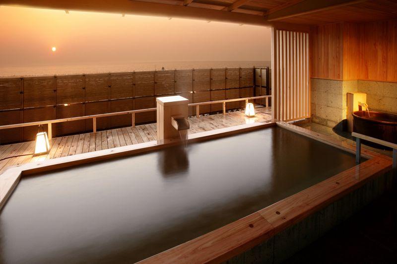 新潟・瀬波温泉「夕映えの宿 汐美荘」は夕日の美しい宿No.1!