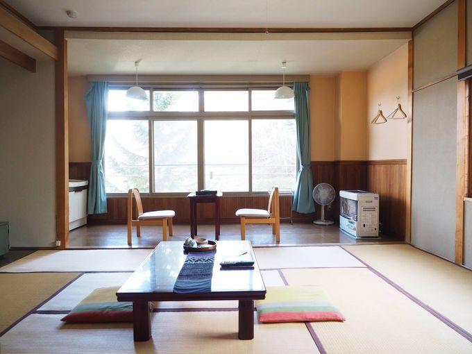おこもりしたくなるほど広くて快適な客室