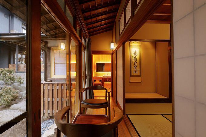 贅沢な空間を思う存分堪能させてくれる「旧館」「洛味荘」