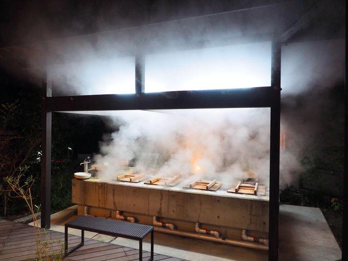 別府明礬温泉の源泉で蒸した「地獄蒸し料理」でヘルシーに