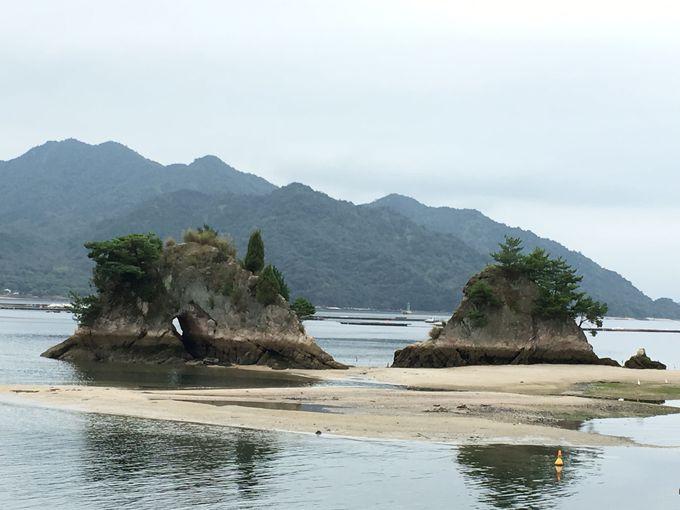 胸にいるのは、近くの島に祀られていた観音石仏