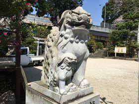 広島の子宝・安産祈願スポット!矢口「弘住神社」の子連れ狛犬にタッチ