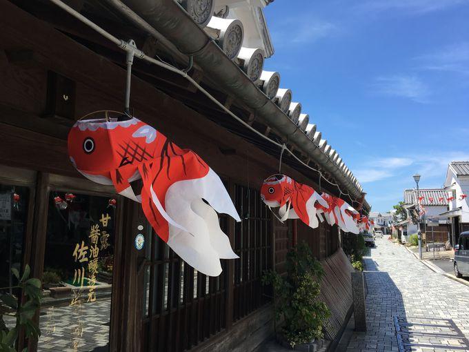 柳井の街並みに彩りを添える「金魚ちょうちん」