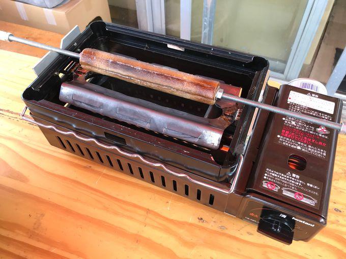 オリジナルの手作りバウムクーヘン焼き器