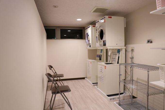 館内施設も充実!コインランドリーも完備されており、長期滞在でも快適に!