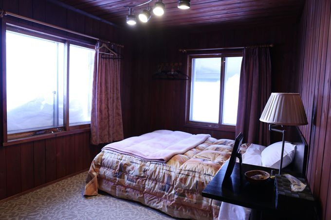 部屋からゲレンデを展望できる客室