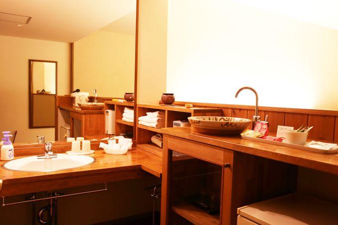 木のぬくもりがあふれる客室