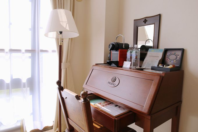 客室は女性好みの優雅な作り