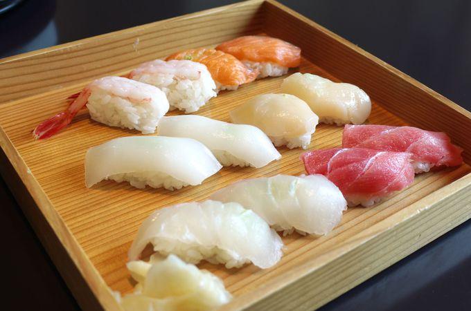 にぎりたてのお寿司が食べ放題!