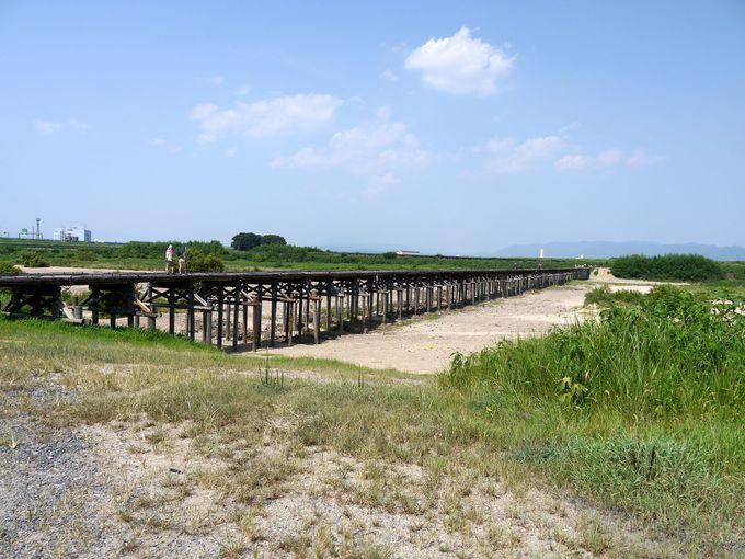 普段の流れ橋