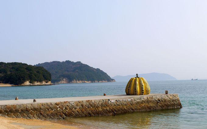 直島の顔!草間彌生の黄色かぼちゃ