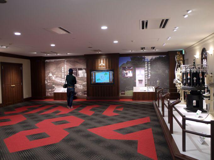 1階は三ツ矢サイダーミュージアム