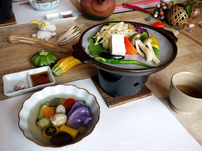 大和伝統野菜に舌鼓