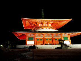 高野山宿坊「西禅院」で精進料理・朝のお勤め・ライトアップの壇上伽藍を満喫しよう!