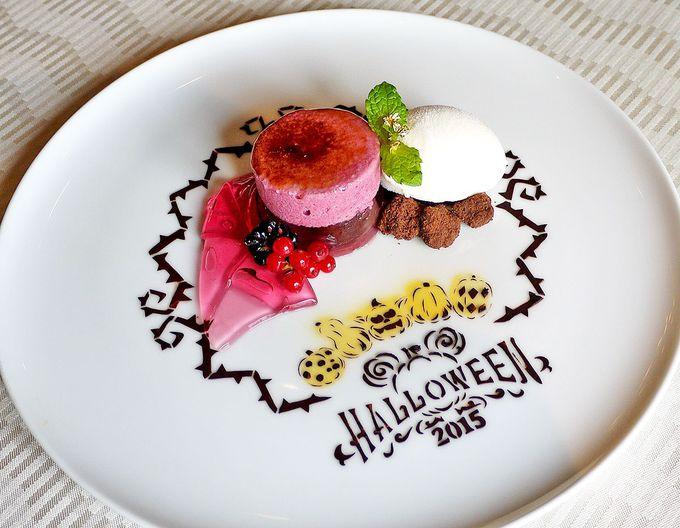 ハロウィーンらしい不思議なデザート。バニラアイス…じゃない⁈