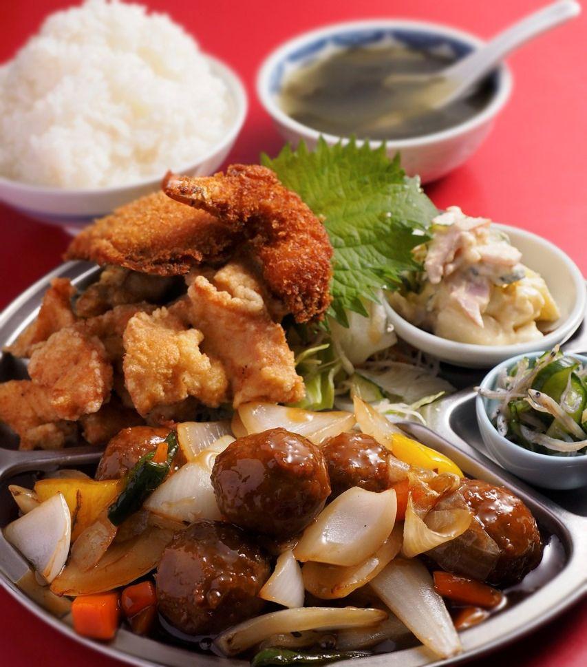 まるでオードブル。「中国料理ちゅん」の定食
