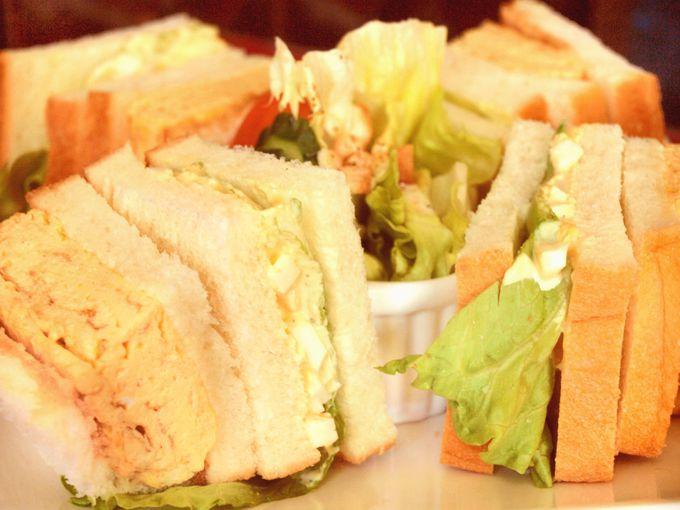 関東風も関西風も!欲張りな「静香」のダブル玉子サンド