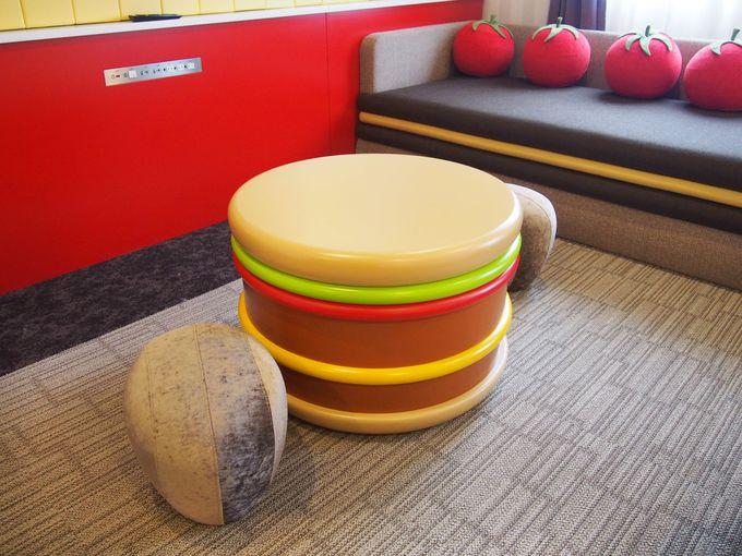 SNS映え必至! 「ドムドムハンバーガー」の中で眠れる部屋