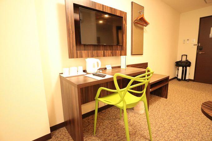 過剰なサービスがなく、室内もシンプル。