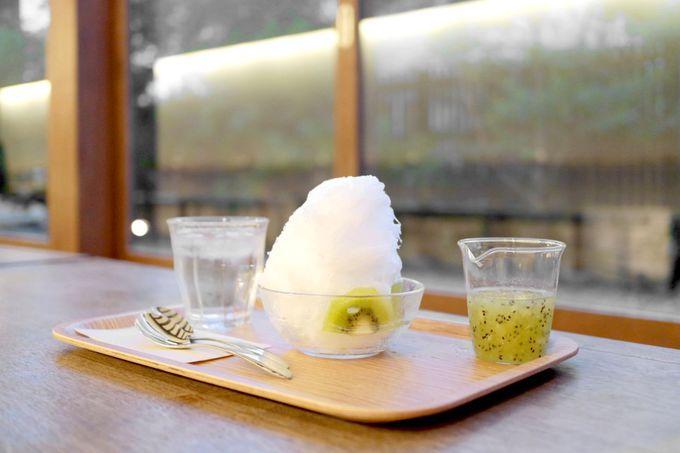 夏の入浴後は、生フルーツかき氷がオススメ!