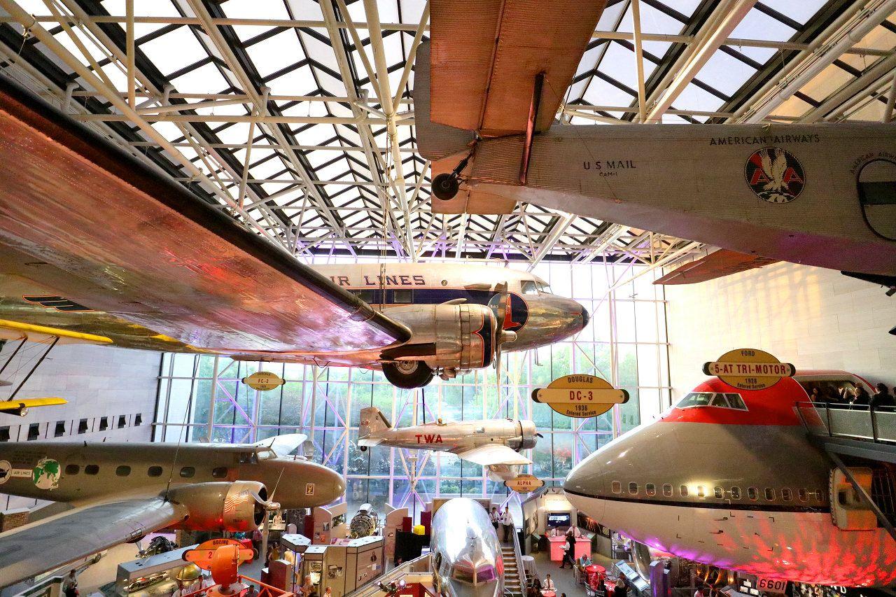 飛行機がいっぱい!ワシントンDC「航空宇宙博物館」は無料で楽しめる素敵なミュージアム
