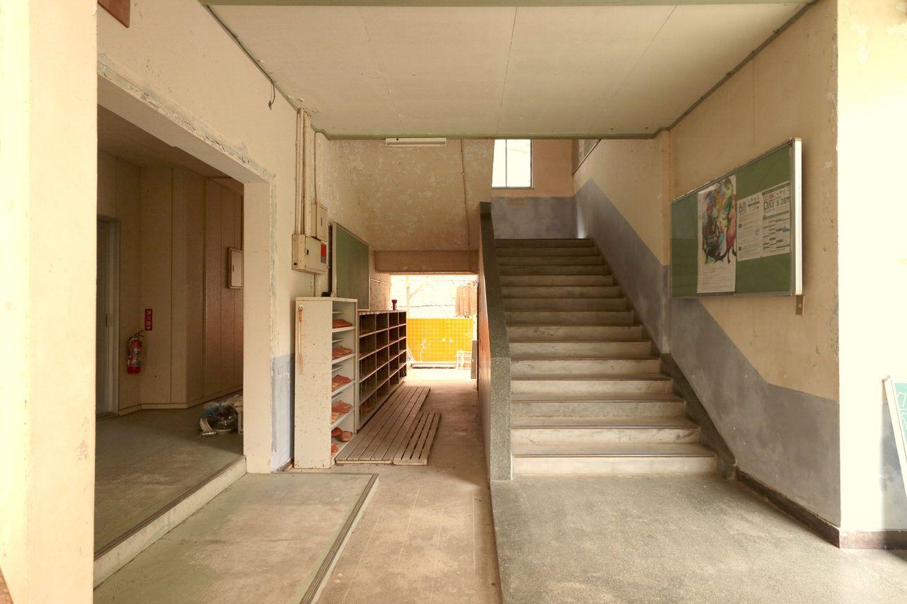 学校の雰囲気が残る校舎