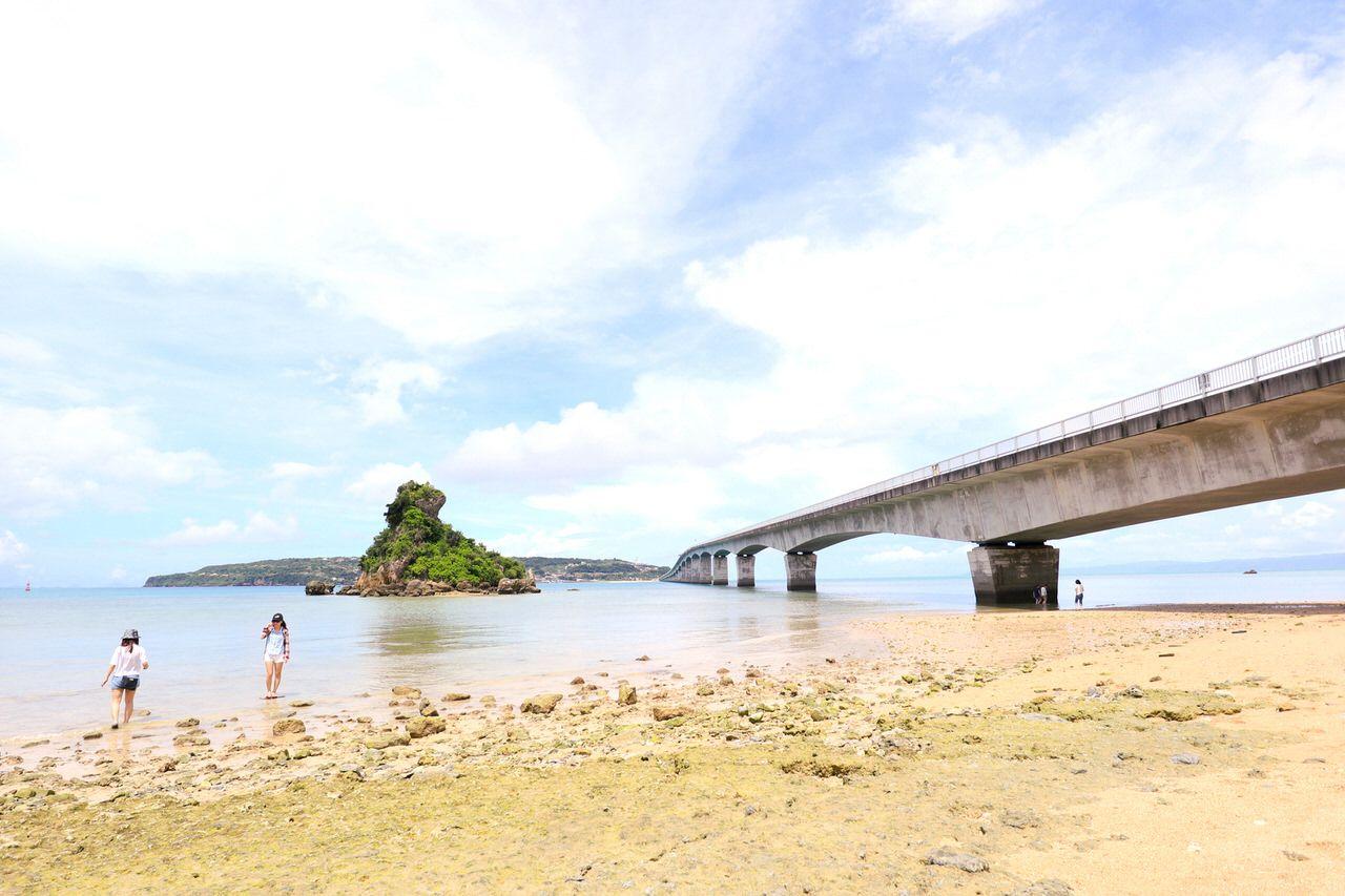 3日目:気軽に渡れる古宇利島で海水浴!