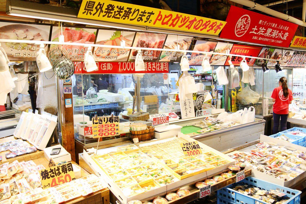 「ひろめ市場」は高知の美味しいグルメが目白押し!