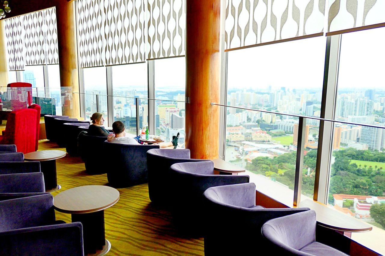 高層階から眺めるシンガポールの街並み