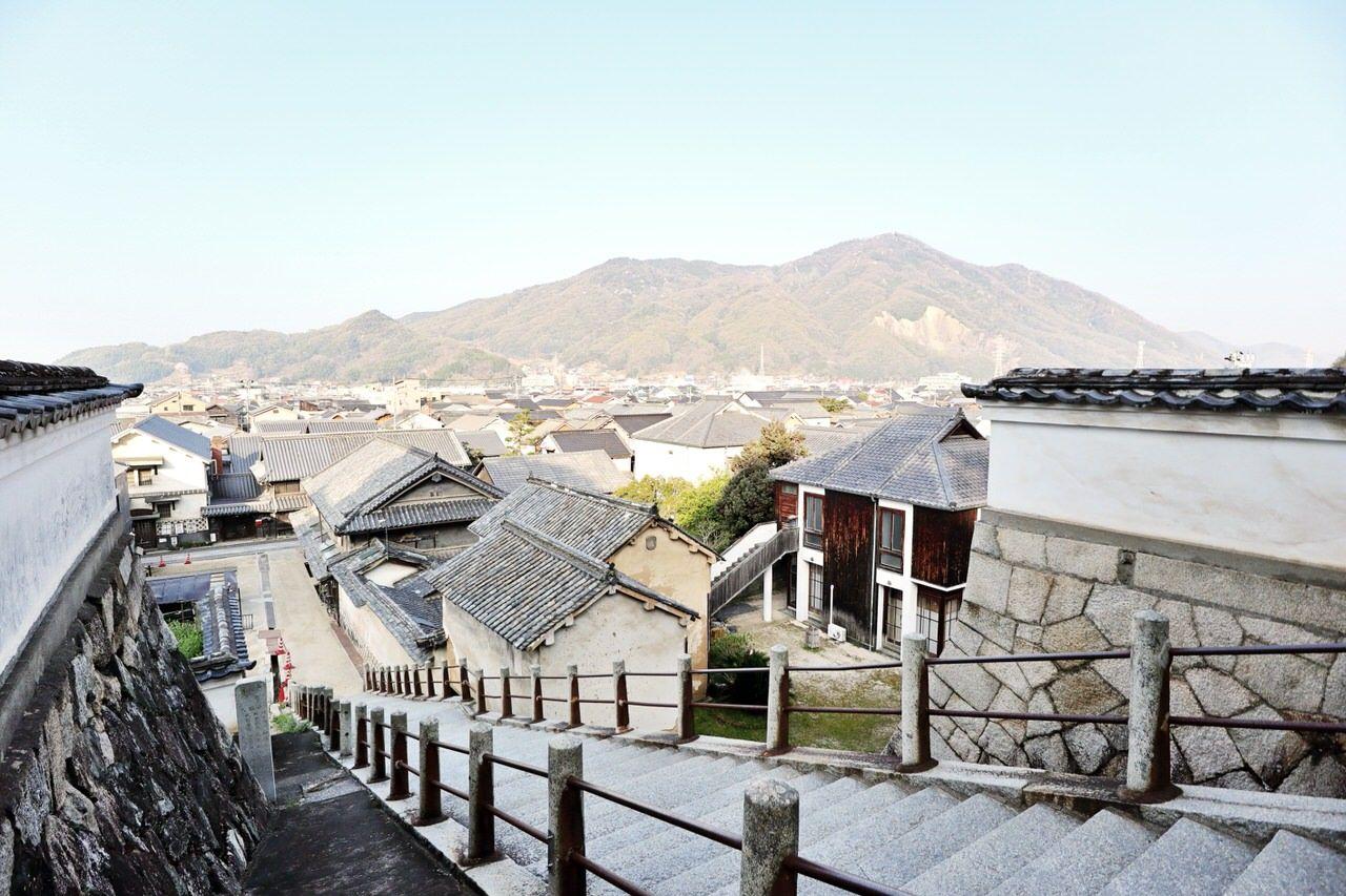 高台にある西方寺からの眺め
