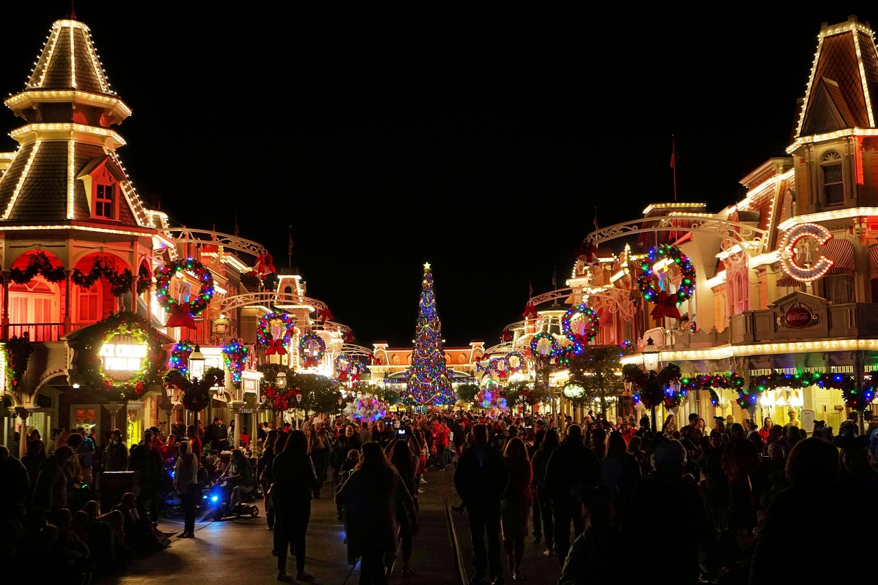 ロマンチックな夜のクリスマス