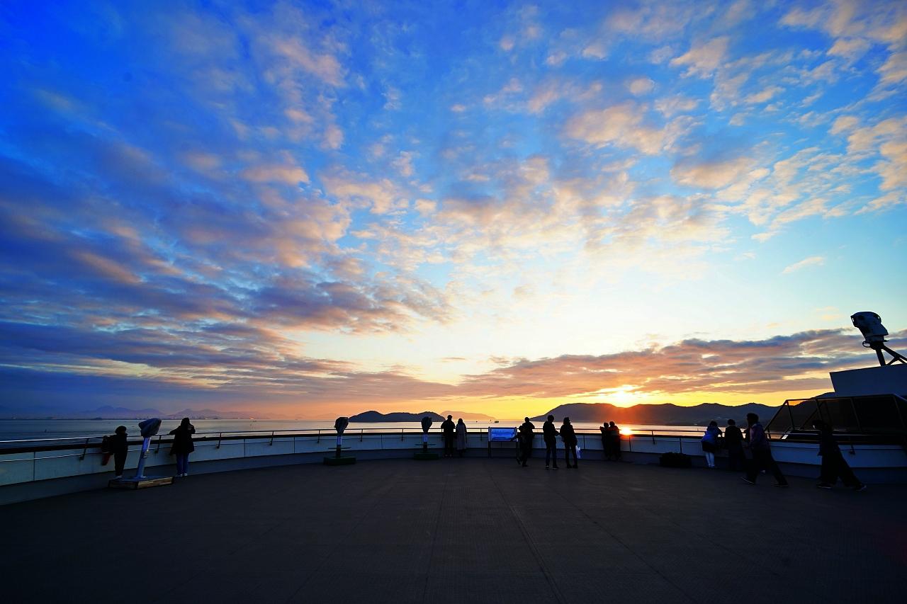 夕景もオススメ!与島パーキングエリア