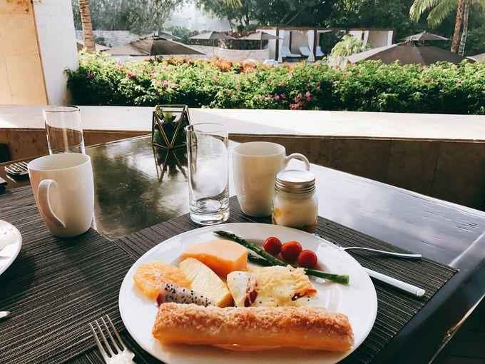 絵にかいたようなリゾート、朝食はこの景色を眺めながら