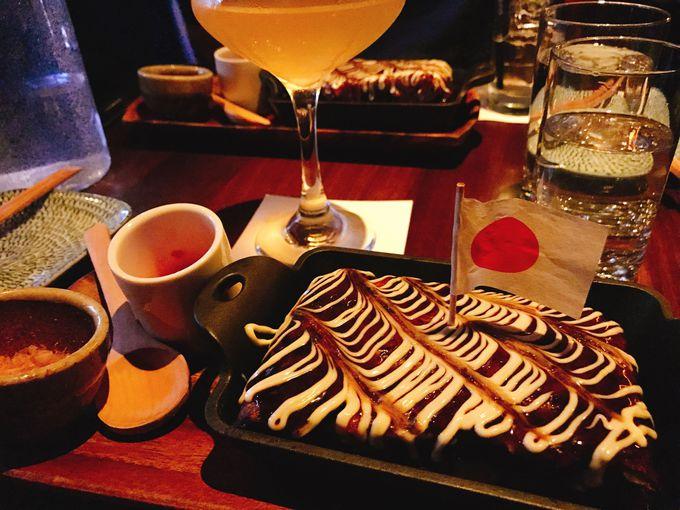 お好み焼きと美味しいカクテル、イーストビレッジの「Bar Goto」