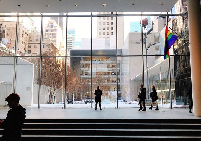 ニューヨークの特等席!MoMAの中庭で食事