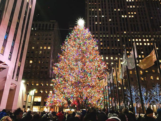 外せない!ロックフェラーセンターのクリスマスツリー