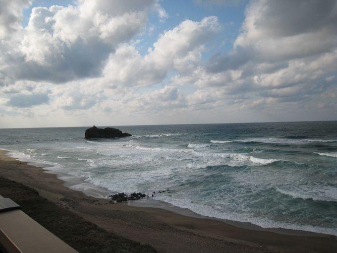 美しい海岸線の白兎海岸