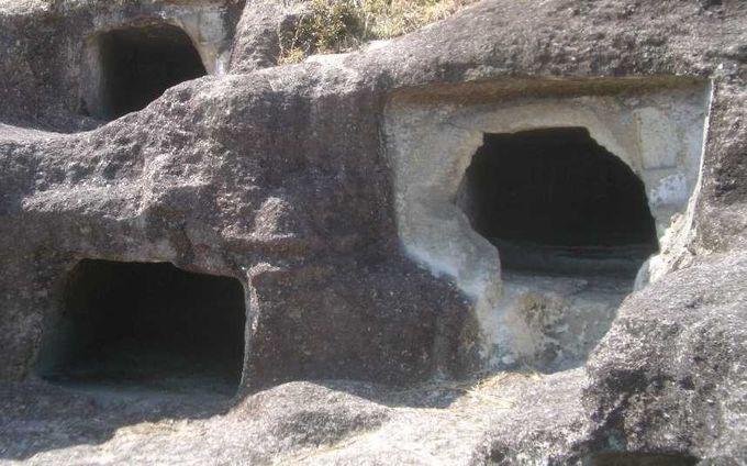 古墳時代に作られた52個の横穴式古墳「長岡百穴古墳」