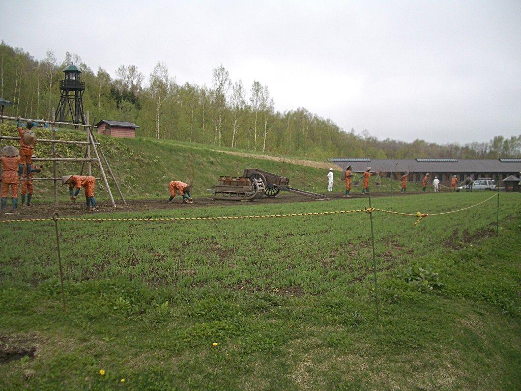 敷地内に再現されている農園