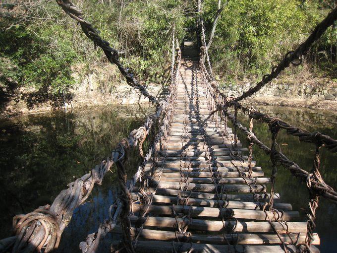 原始的なつり橋「かずら橋」