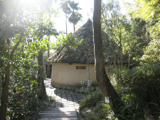 全国的に珍しい円形の小屋