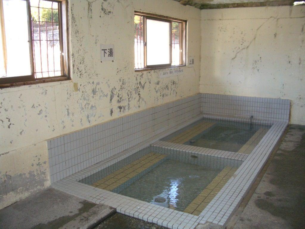 温泉水の洗濯場