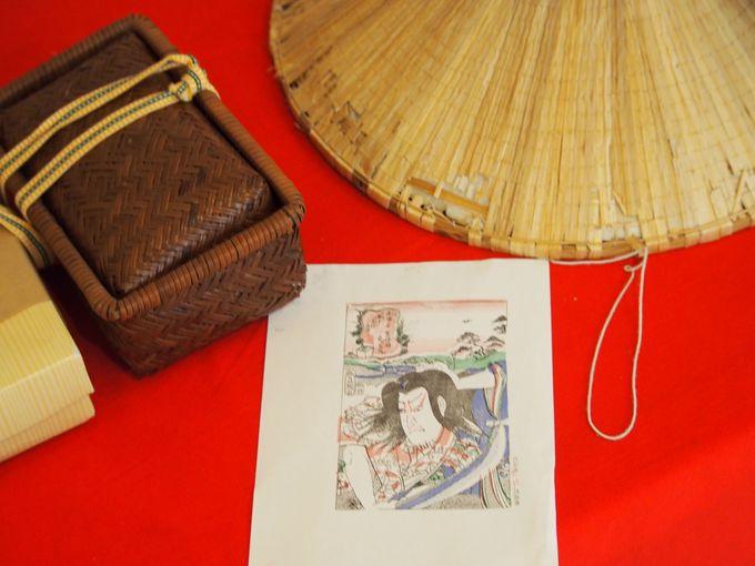 浮世絵体験で江戸の旅人気分
