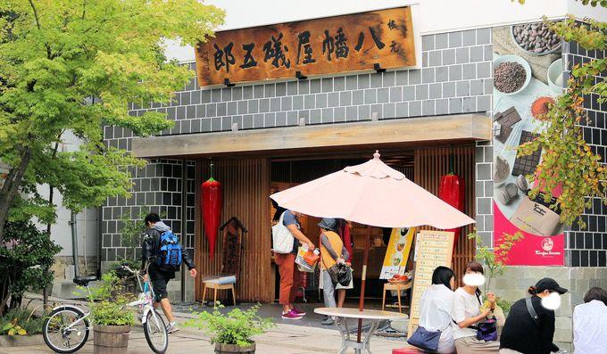 善光寺参拝の後には、八幡屋礒五郎本店に併設した横町カフェで小休止!