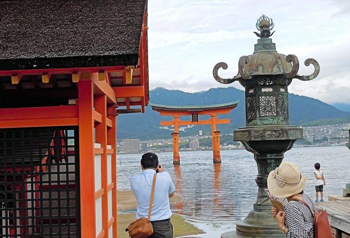 世界文化遺産は宮島全体の14%