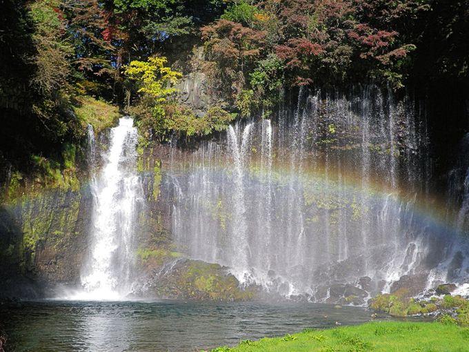 徐々に環境整備が進む白糸の滝周辺