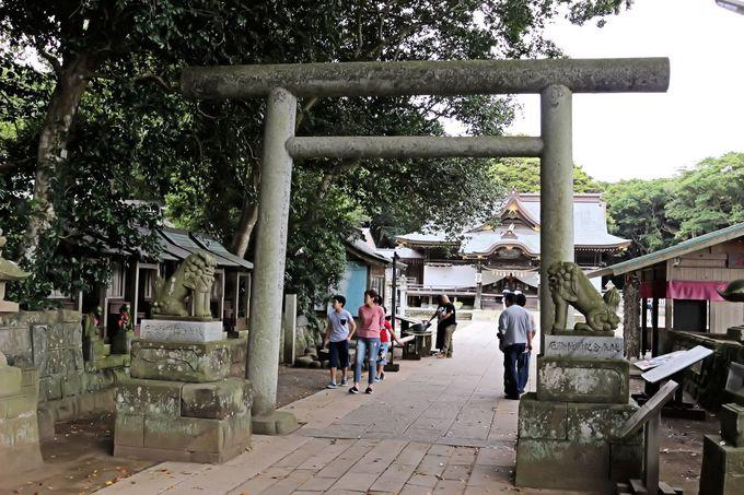 えびす顔の少彦名命が祀られている酒列磯前神社