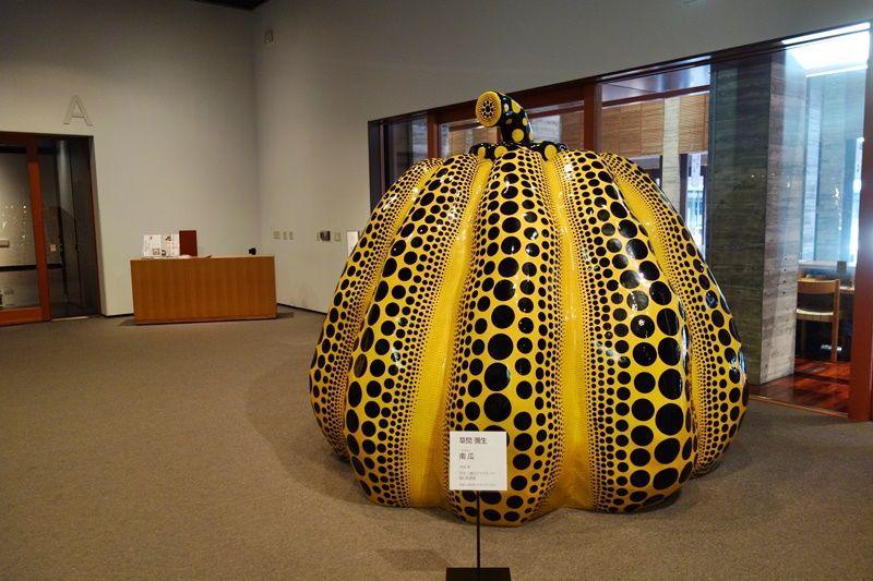 草間彌生さんの作品にも会える島根県立岩見美術館