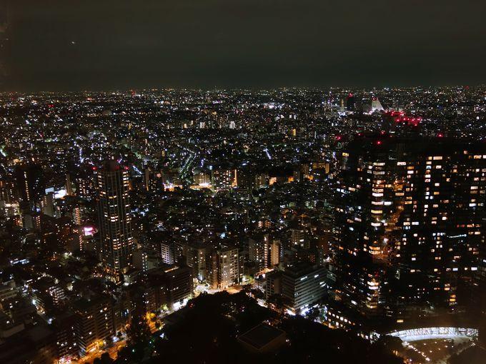 きらめく大都会の夜景にうっとり