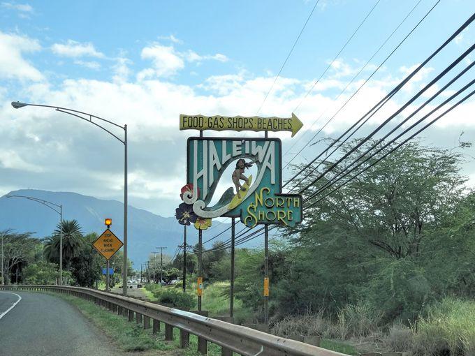 ハワイの風を感じながら味わうガーリックシュリンプは最高!